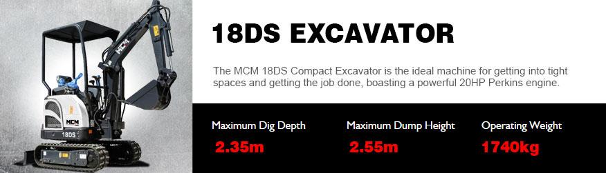 MCM 18DS Excavator