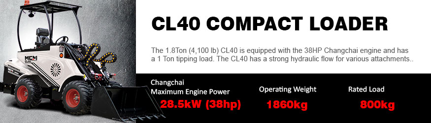 CL40 MCM Compact Loaders