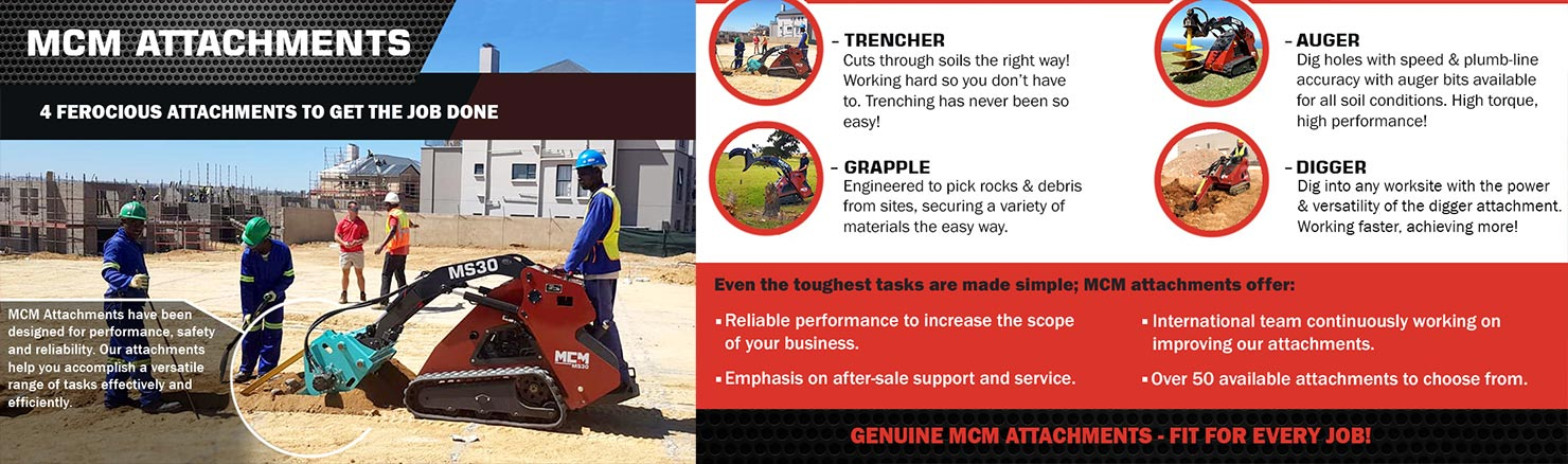 Track Loader with Trencher