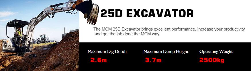 25D MCM Excavator